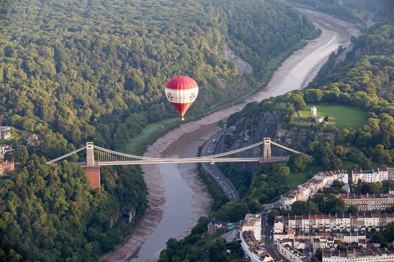 Clifton Suspension Bridge Bristol Balloon Fiesta England UK