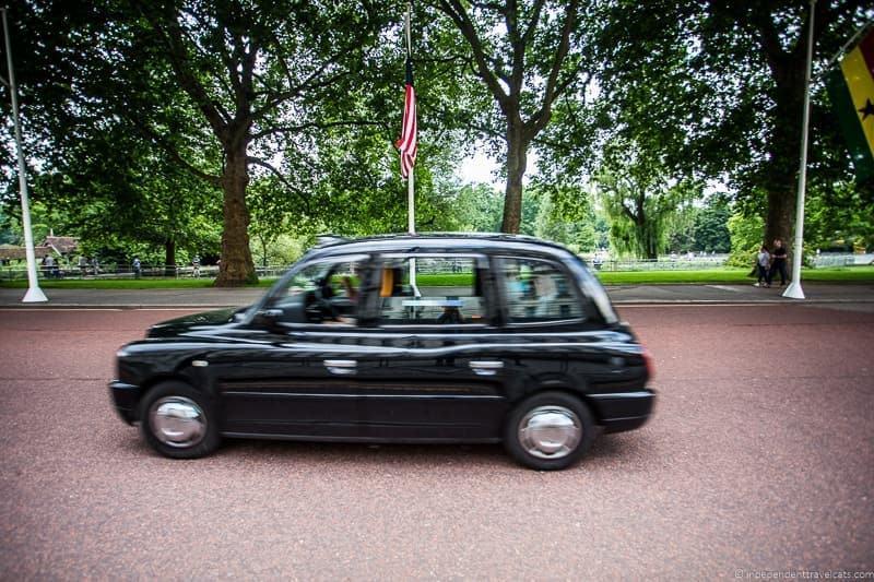 London black cab how to get from London to Edinburgh Scotland