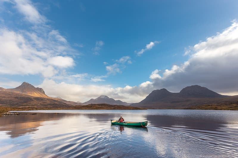 canoeing loch reasons to drive North Coast 500 NC500