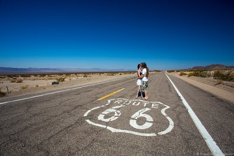 Route 66 marker California 2 week Route 66 itinerary detailed guide