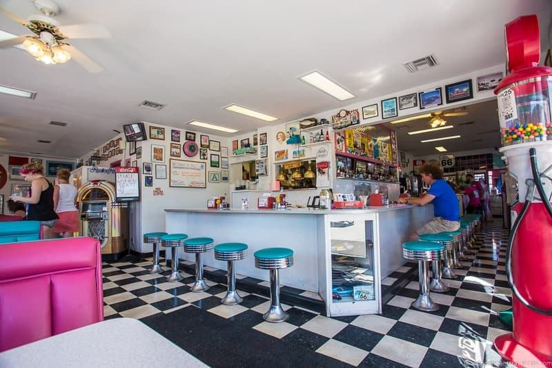 Mr Dz diner Kingman Arizona 2 week Route 66 itinerary detailed guide