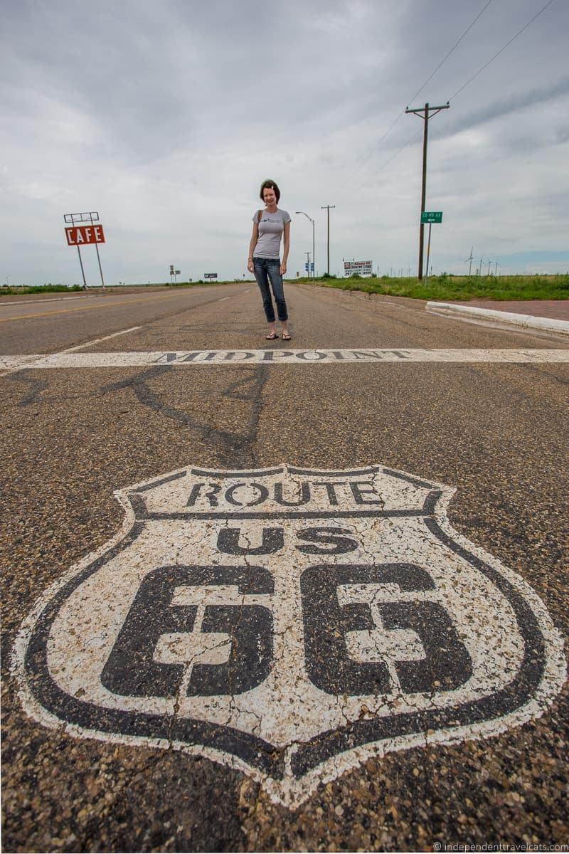 Rte 66 Midpoint Adrian Texas 14 day Route 66 itinerary detailed guide