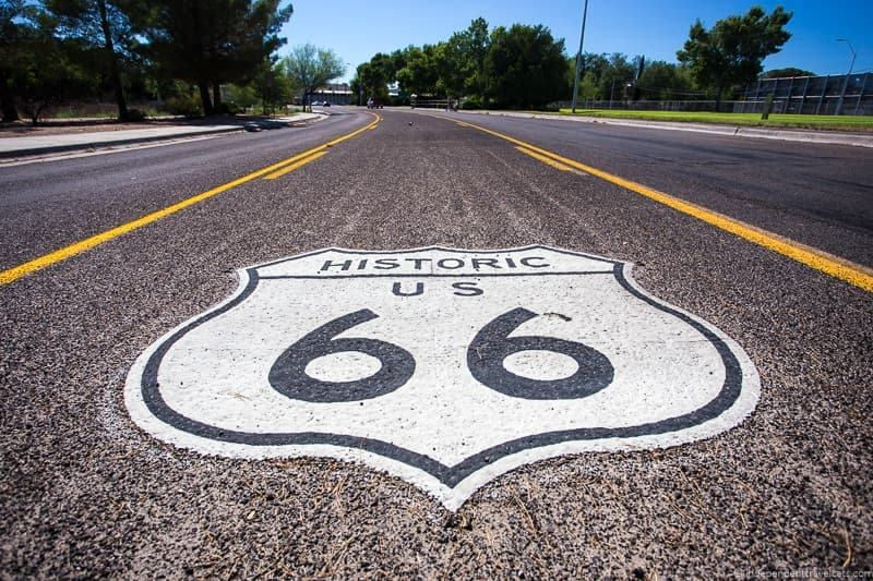 Rte 66 marker 2 week Route 66 itinerary detailed guide