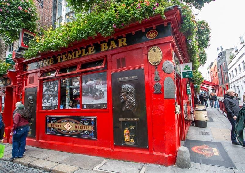 Temple bar 3 days in Dublin itinerary Ireland