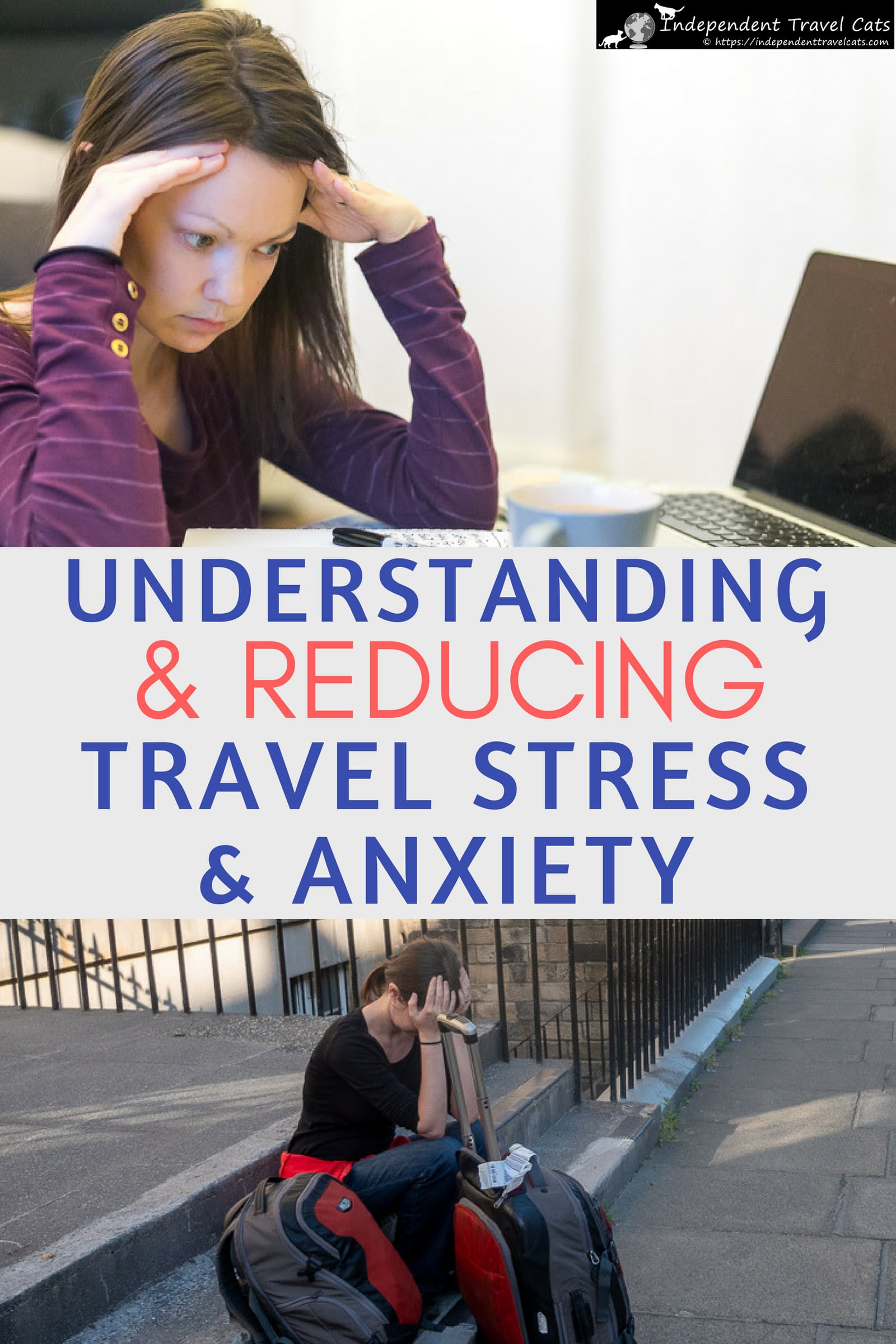 Travel stress is a feeling of mental strain and pressure related to traveling. We discuss a number of common reasons that you might be finding travel to be stressful, which might include feeling overwhelmed with travel planning, air travel, safety concerns, difficulty handling unexpected events, and financial issues. Then we provide a number of helpful tips to help you prevent or reduce travel stress and travel anxiety. #travelstress #travelanxiety #traveltips #travelplanning