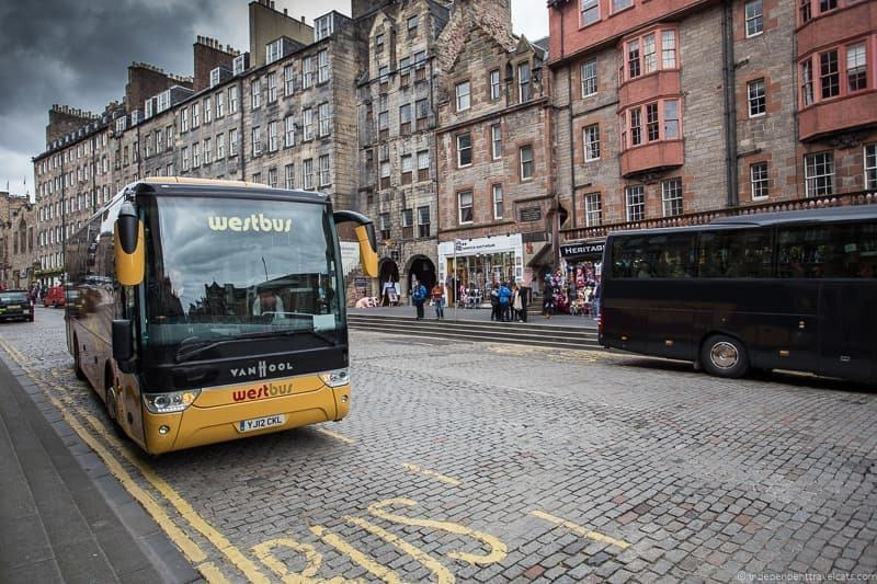 bus how to get from London to Edinburgh Scotland