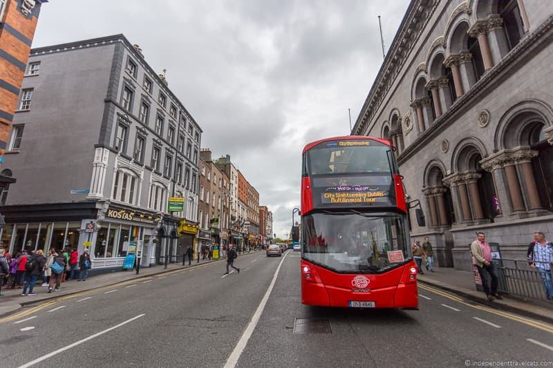 Dublin city sightseeing bus 3 days in Dublin itinerary Ireland