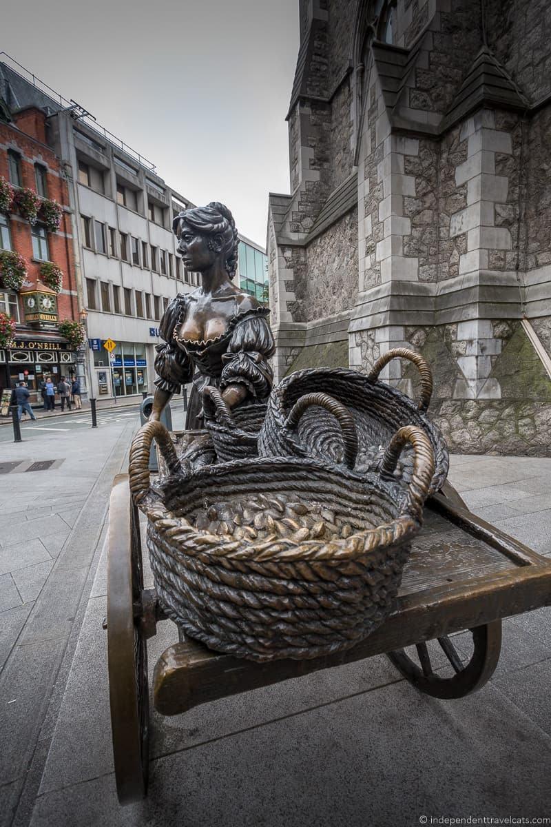Molly Malone statue 3 days in Dublin itinerary Ireland