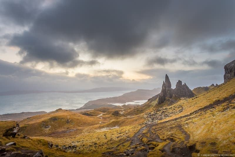 Old Man of Storr how to avoid crowds on the Isle of Skye