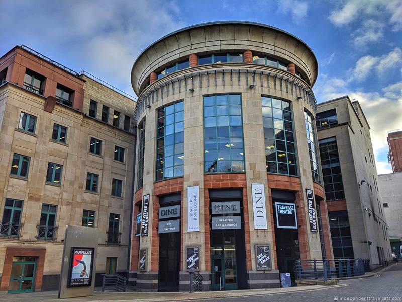 Traverse Theatre Cafes where JK Rowling wrote Harry Potter in Edinburgh Scotland
