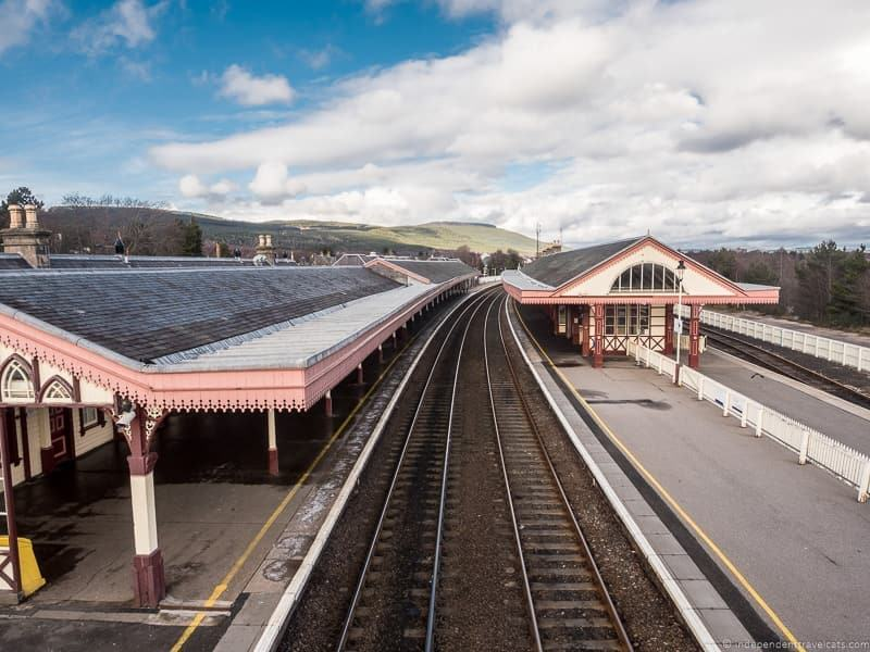 Aviemore steam train things to do in the Cairngorms National Park in winter