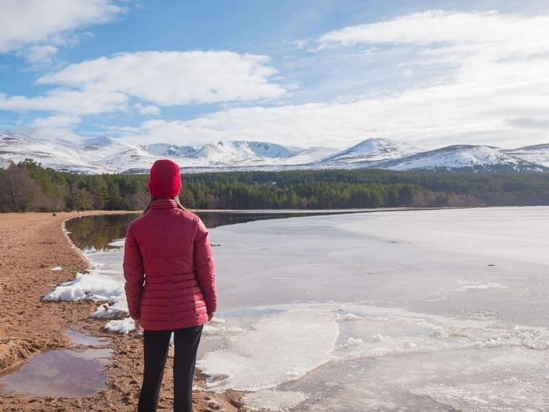 Loch Morlich things to do in the Cairngorms National Park in winter