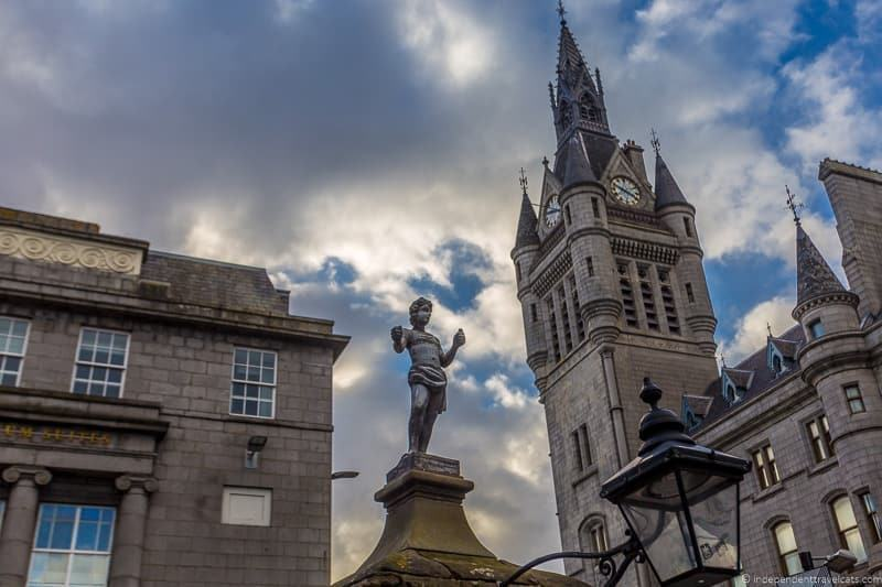 Mannie statue Tolbooth things to do in Aberdeen Scotland travel guide