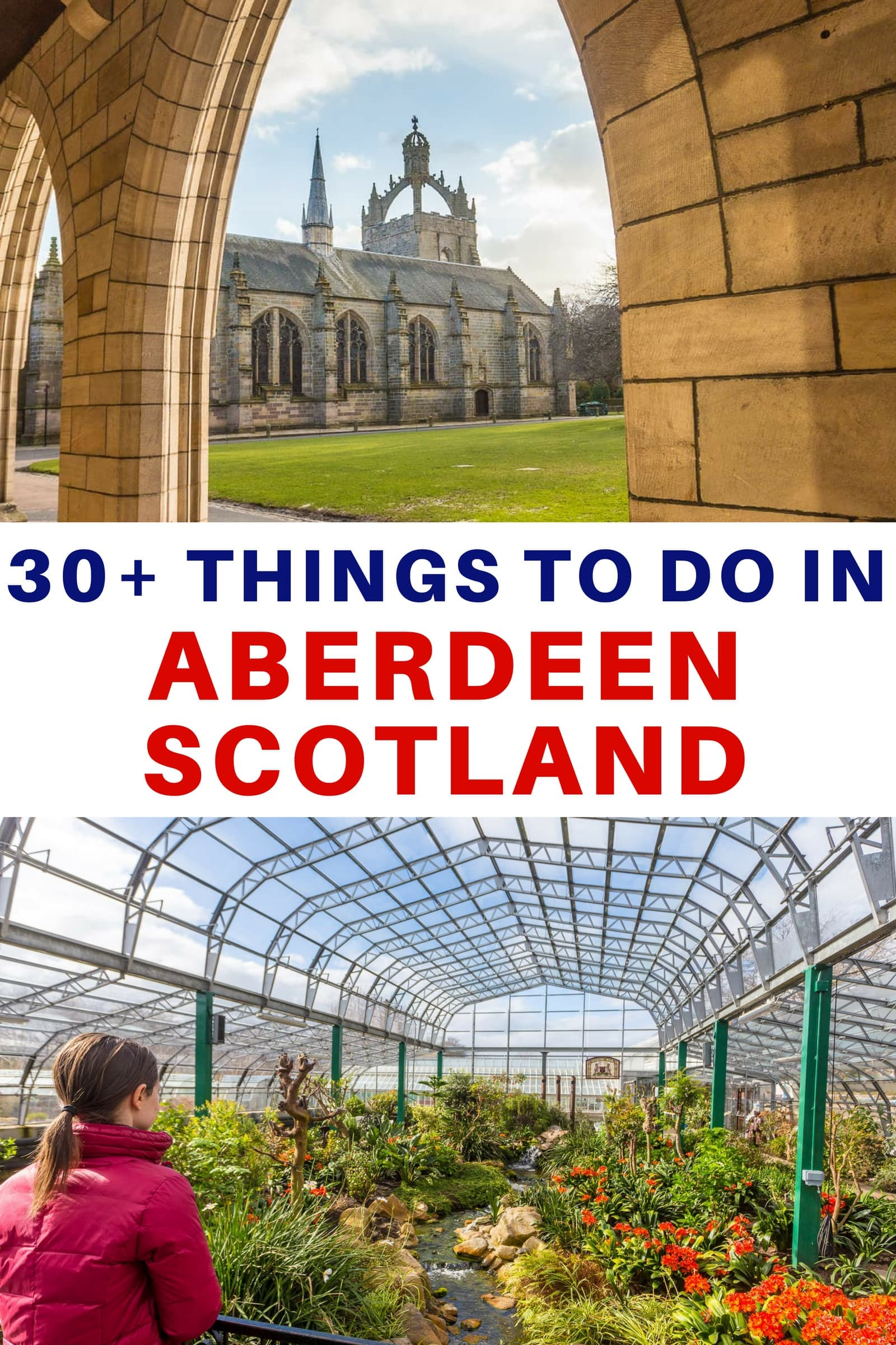 A travel guide to the top things to do in Aberdeen Scotland as well as suggestions on getting around, where to stay, and day trip ideas. Aberdeen has power architecture, beautiful gardens, charming historical districts, interesting museums, good restaurants, internationally known golf courses, fun festivals, and even a beach! Aberdeenshire is also home to whisky distilleries, dozens of castles, and the Cairngorms National Park. #Aberdeen #Aberdeenshire #Aberdeentravel #Scotland #travel