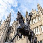 things to do in Aberdeen Scotland Robert the Bruce statue Marischal College