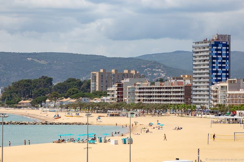 Platja Gran beach things to do in Palamós Spain Catalonia Costa Brava
