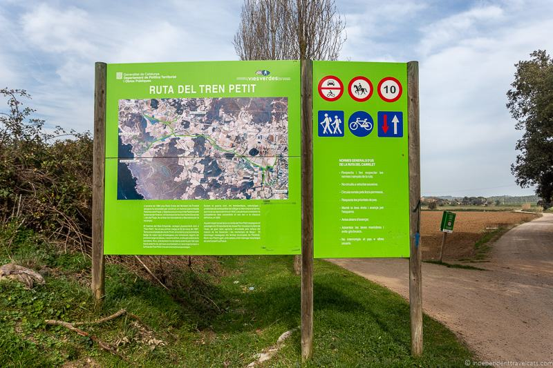 Ruta del Tren Petit green route hike things to do in Palamós Spain Catalonia Costa Brava
