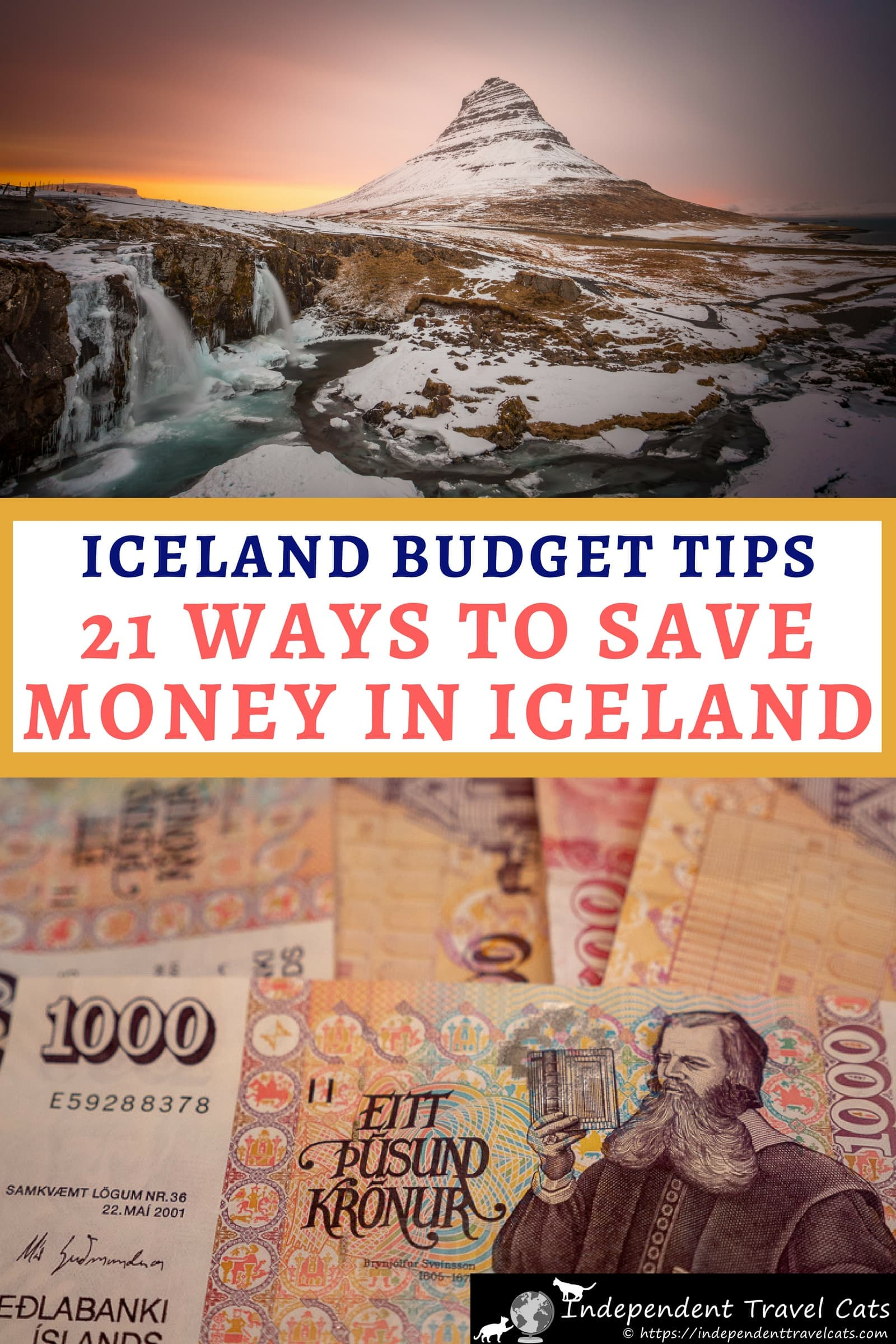 Iceland is a popular but expensive travel destination. To help with your trip planning, we've put together a guide to how to travel to Iceland on a budget. We share 20 budget tips to help you save money in Iceland on flights, rental cars, hotels, dining, alcohol, groceries, camping, and sightseeing to help you get the most out of your money and your trip to Iceland. Tips are based on our 6 weeks traveling in Iceland. #Iceland #Icelandtravel #Icelandonabudget #travel #BudgetTravel #traveltips