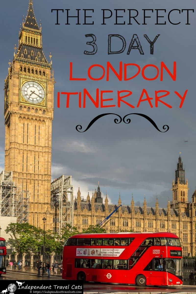 Our 3 day London itinerary helps you see the highlights of London and helps you with planning your 3 days in London. Our itinerary includes London's most famous attractions (e.g., Tower of London, Windsor Castle) as well as some of the city's lesser known attractions. In addition to the 3 day itinerary, we also provide tips on how to get around London, a walking map, and money saving tips for your trip to London. #London #Londonitinerary #Londontravel #3daysinLondon #UK #travel #England