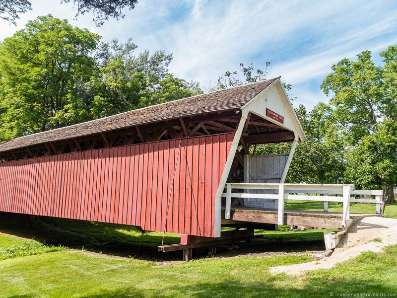 Cutler-Donahue Bridge visiting the covered bridges of Madison County Iowa