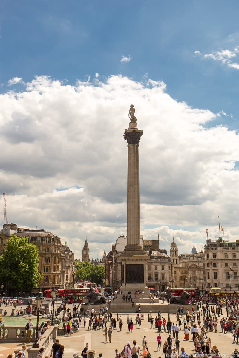 Nelson's Column 3 Days in London 3 day London itinerary England