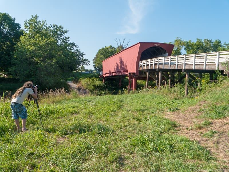 photographer Roseman Bridge covered bridge Madison County Iowa