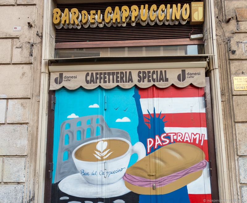 Bar del Cappuccino coffee in Rome cafés