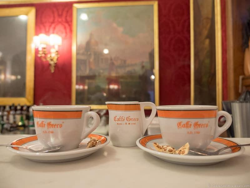 Antico Caffè Greco best coffee in Rome cafés Italy Italian coffee