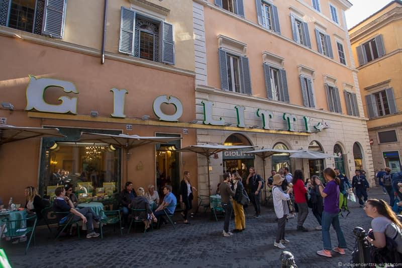 Giolitti best coffee in Rome cafés Italy Italian coffee