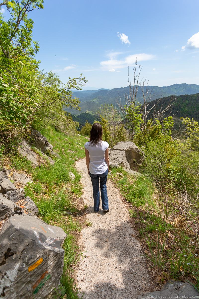 hiking La Garrotxa Pyrenees Catalonia Spain