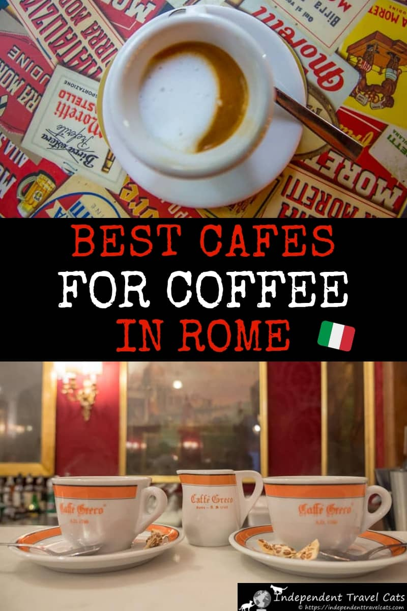 A guide to finding the best coffee in Rome Italy. We share our top 12 coffeehouses and cafes in Rome to help you find the best coffee spot for you. We also share lots of tips and advice on ordering and drinking coffee in Rome, including typical Italian espresso coffee drinks, how to order coffee in Rome, how to save money, and information on service charges. #coffee #Rome #coffeeinRome #Italiancoffee #cafes #cafesinRome #coffeehouses #caffe #caffè #espresso #travel