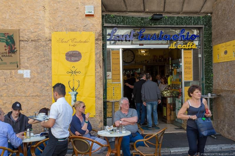 Sant Eustachio Il Caffe best coffee in Rome cafés Italy Italian coffee