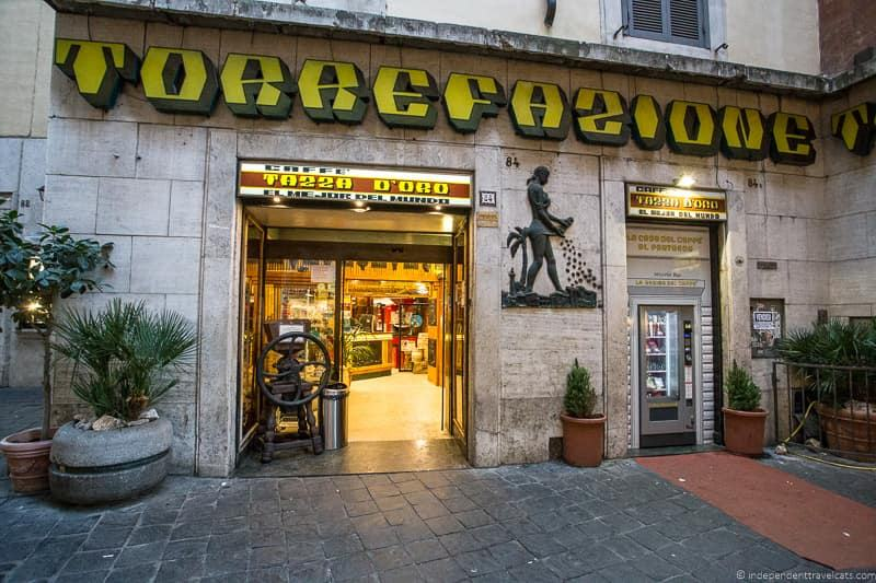 Tazza D oro best coffee in Rome cafés Italy Italian coffee