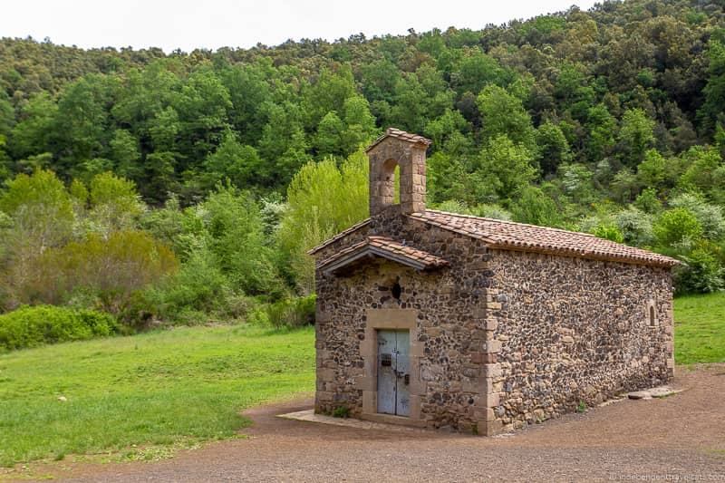Santa Margarida hermitage La Garrotxa Pyrenees Catalonia Spain