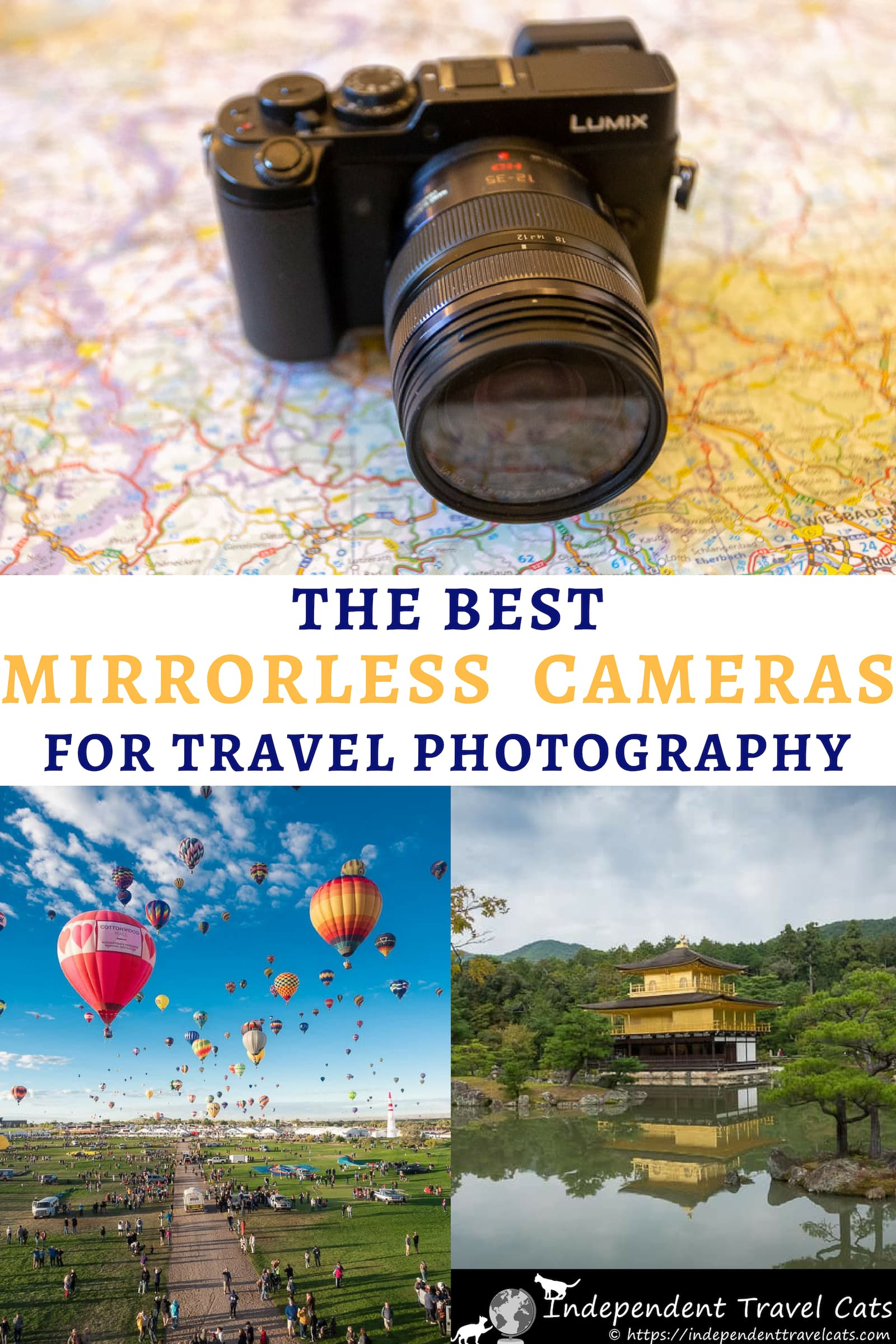 A guide to the best mirrorless cameras for travel at every price point. We'll help you decide if a mirrorless camera is a good choice for you, provide advice on how to choose the best mirrorless camera, and share a list of the best mirrorless cameras currently available across various price points. We also give some tips on how to make the most of your camera. #travelcamera #travelphotography #travel #mirrorlesscamera #mirrorlesscameras #photography #cameras