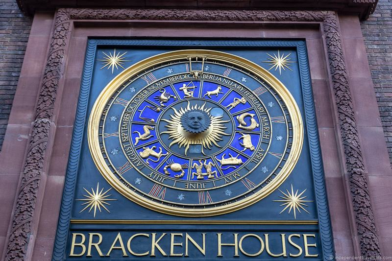 Bracken House Astrological Clock Winston Churchill London England