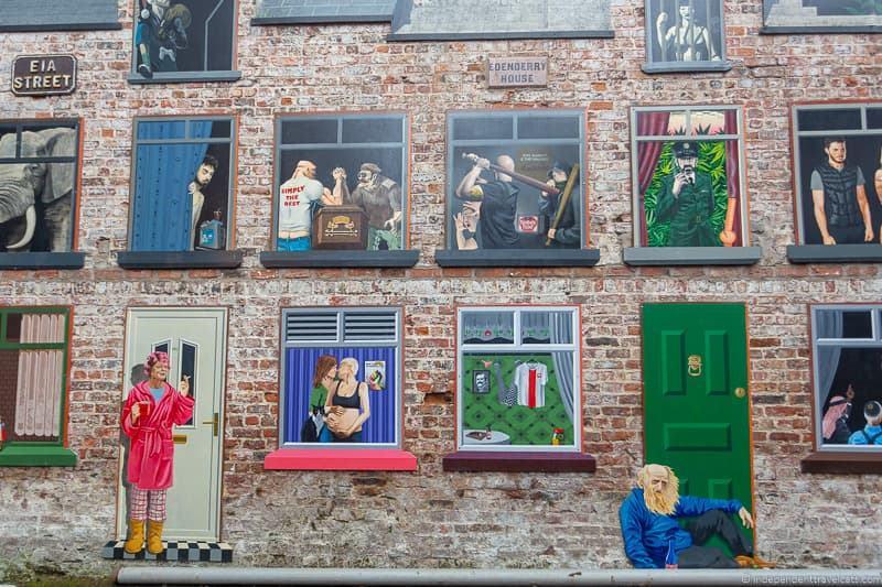 Belfast Street Mural street art things to do in Belfast Northern Ireland travel guide