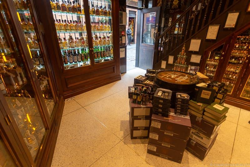 Friend at Hand Irish Whiskey shop things to do in Belfast Northern Ireland travel guide
