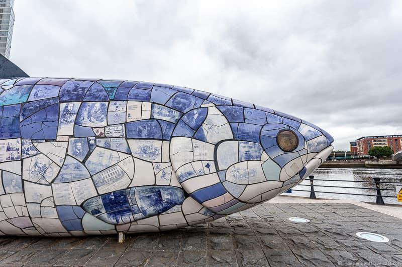 Salmon of Knowledge Big Fish Belfast waterfront things to do in Belfast Northern Ireland travel guide
