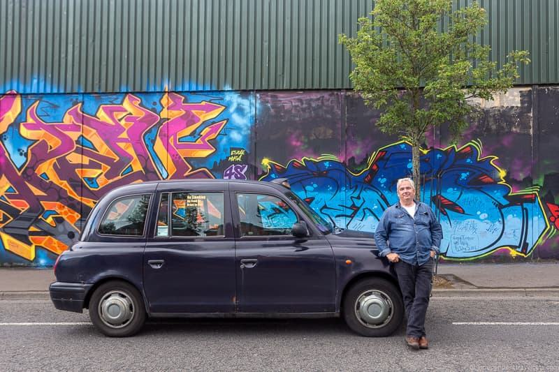 Black cab taxi tour Billy Scott things to do in Belfast Northern Ireland travel guide