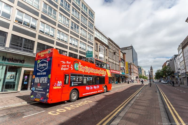 Belfast City sightseeing bus things to do in Belfast Northern Ireland travel guide