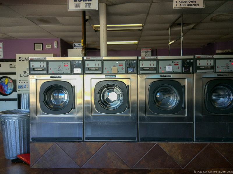 Laundromat United States doing laundry while traveling travel laundry tips