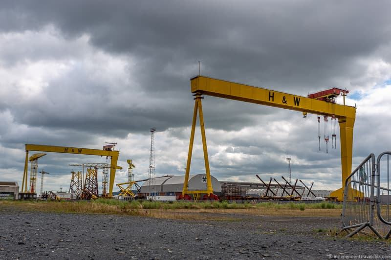 Samson and Goliath gantry cranes H & W things to do in Belfast Ireland travel guide