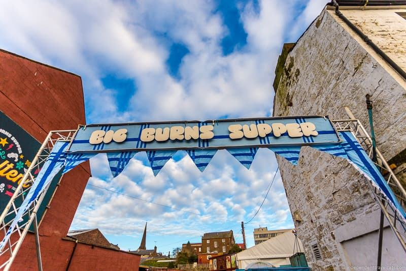 Big Burns Supper festival Dumfries Robert Burns Supper where to celebrate Burns Night in Scotland