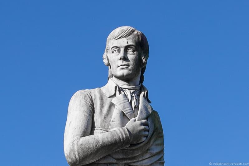 Robert Burns statue Dumfries Burns Supper where to celebrate Burns Night in Scotland