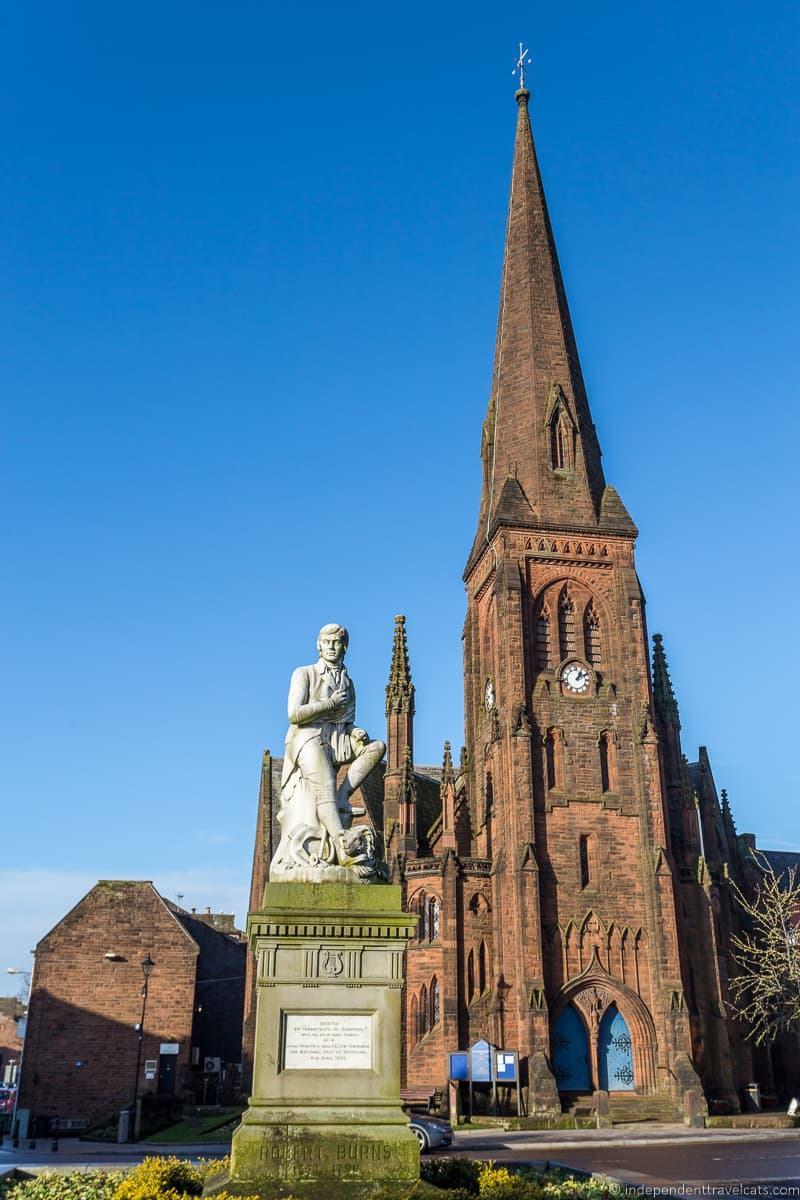 Robert Burns Statue Dumfries Burns Supper where to celebrate Burns Night in Scotland