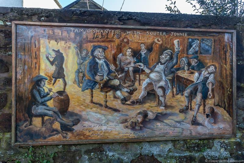 Dumfries Tam o' Shanter mural Robert Burns Supper where to celebrate Burns Night in Scotland