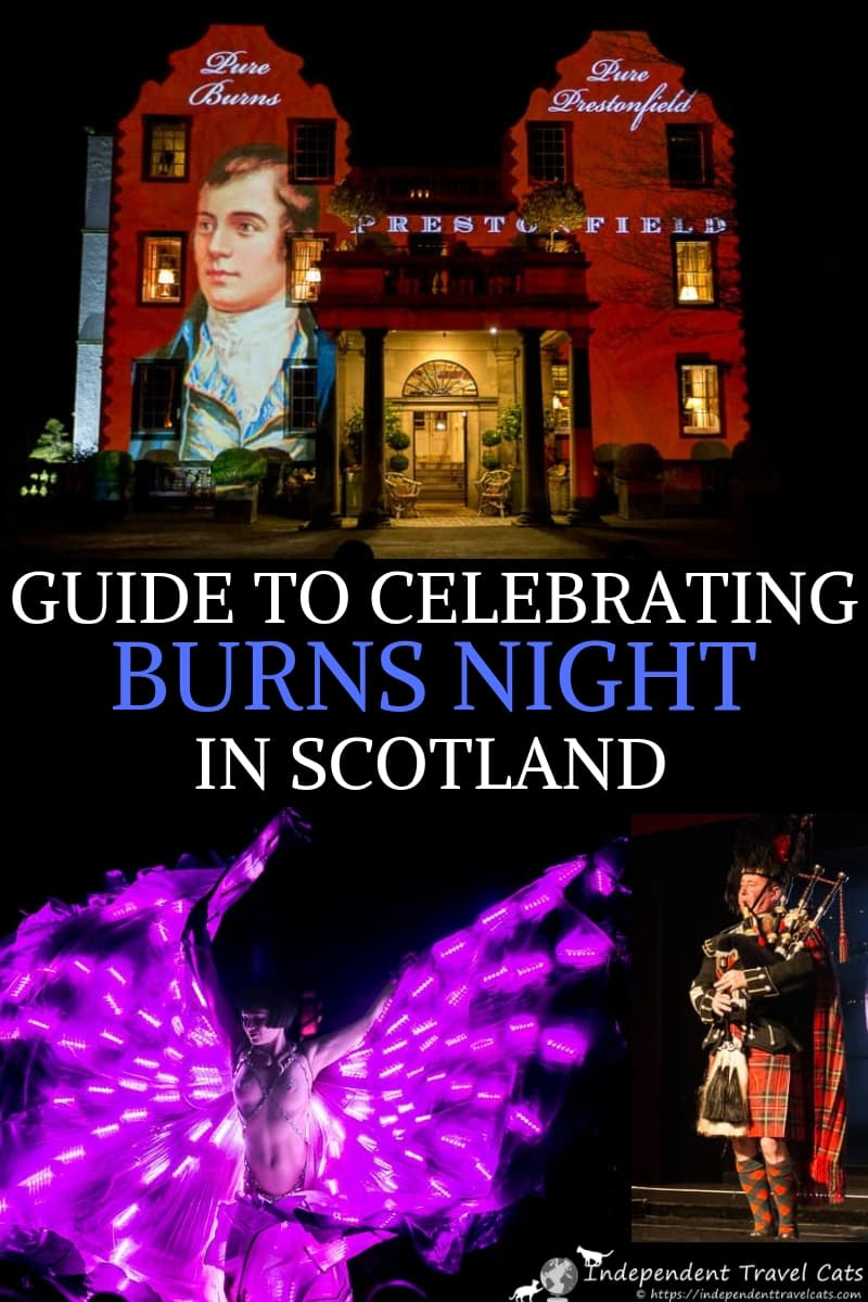 A complete guide to celebrating Burns Night and where to celebrate Burns Night in Scotland. We've put together a guide to the top places to join a Burns Supper in Scotland to celebrate Robert Burns and his writings. There are many ways to celebrate Burns Night in Scotland and we have an up-to-date list of Burns Night events in #Ayrshire, #Dumfries, #Edinburgh, and #Glasgow and information on how to join these events. #BurnsNight #BurnsSupper #Scotland #RobertBurns #RabbieBurns #Scottish