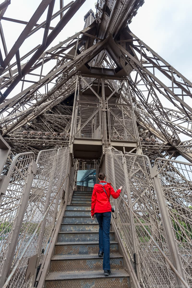 Eiffel Tower stairs Guide to Visiting the Eiffel Tower in Paris France Eiffel Tower tips