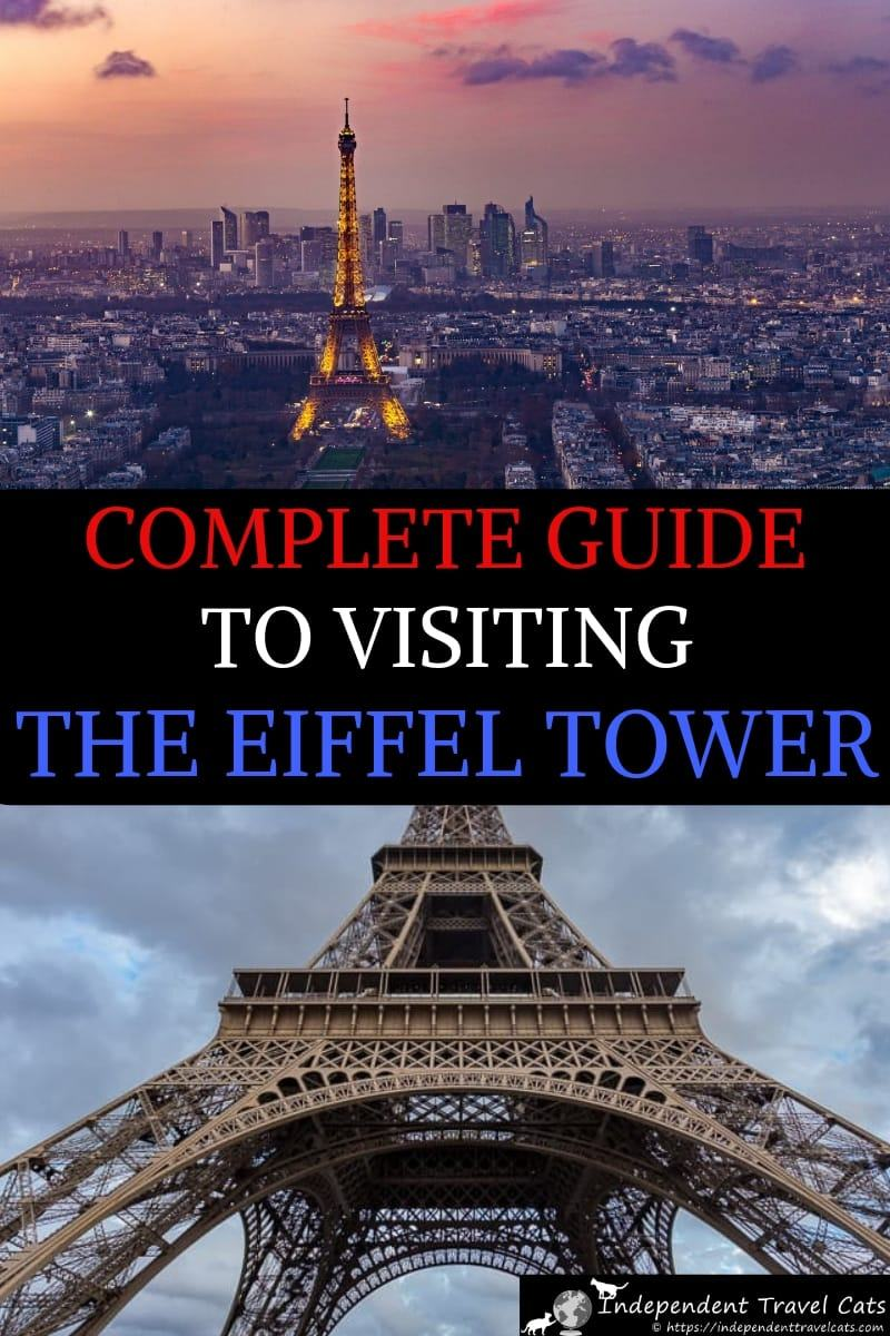 A complete and practical guide to visiting the Eiffel Tower in Paris France. We've visited the Eiffel Tower several times and provide all the information you need to plan your visit to the Eiffel Tower, including how to get there, how to buy tickets, where to get the best views, how to book a guided tour, where to eat, and how to save time and money. We also share tips on where to get the best photographs of the Eiffel Tower in Paris. #EiffelTower #TourEiffel #Paris #travel #traveltips #France